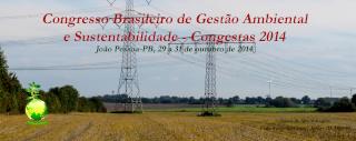 Congresso Brasileira de Gestao Ambiental e Sustentabilidade - Congesta 2014