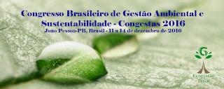 Congresso Brasileira de Gestao Ambiental e Sustentabilidade - Congesta 2016