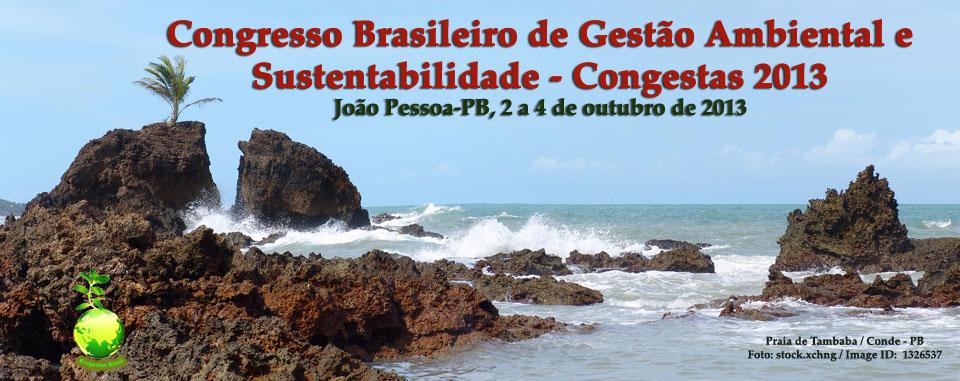 Congresso Brasileiro de Gestão Ambiental e Sustentabilidade - Congestas 2013