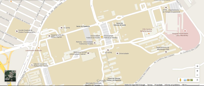 Mapa da UFPB
