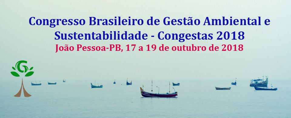 Congresso Brasileiro de Gestão Ambiental e Sustentabilidade - Congestas 2018
